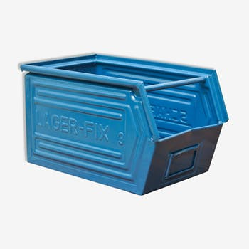 Caisse schafer bleu nuit restaurée