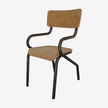 petite chaise m tal d 39 colier avec accoudoirs bois mat riau bois couleur industriel. Black Bedroom Furniture Sets. Home Design Ideas
