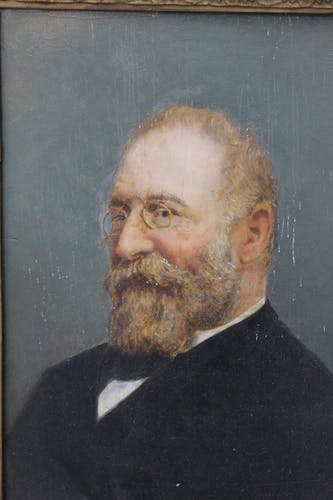 Tableau portrait homme barbu