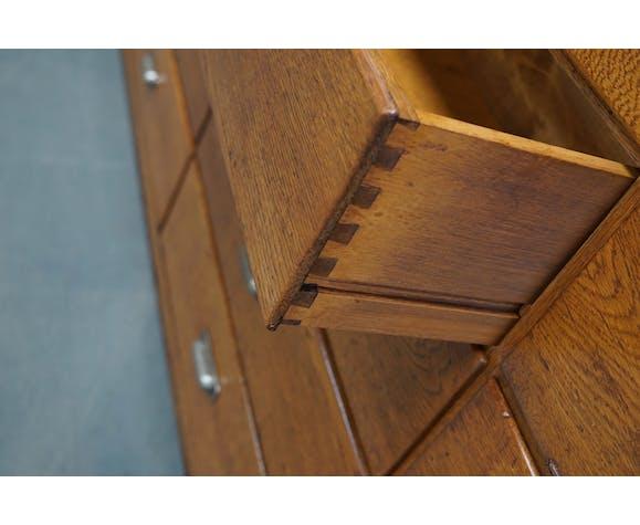 Dutch oak apothecary cabinet, 1930s