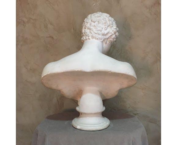 Buste d'Apollon en plâtre