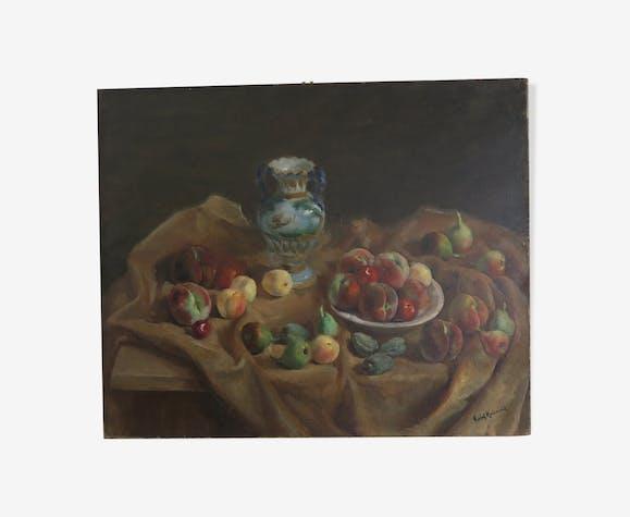 Still life fruit vintage by Vidal Rolland
