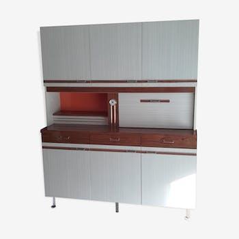 meuble rangement cuisine en formica blanc vintage