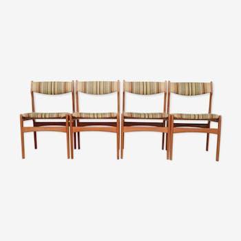 4 scandinavian chairs, 1960