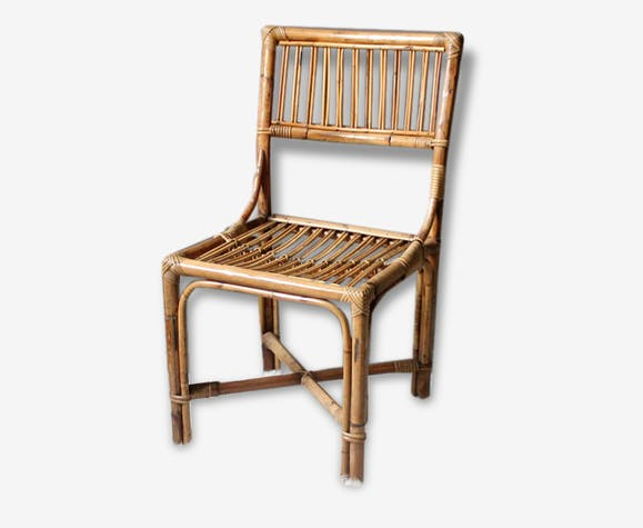 Chaise Bambou Vintage