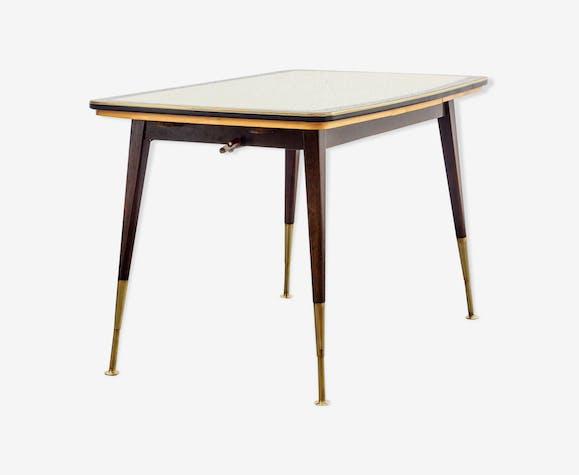 Table haute-basse années 50 avec rallonges