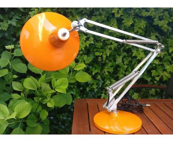 Lampe d'architecte réglable Fase orange années 70