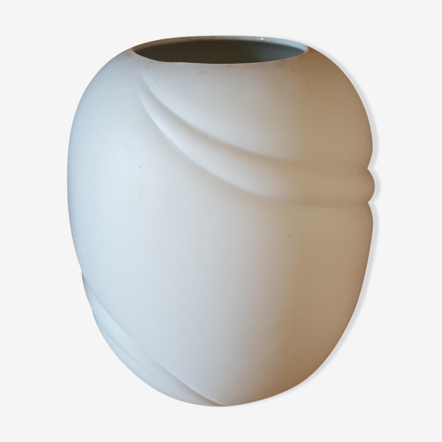 Royal KPM Bavaria matte white porcelain vase