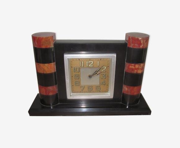 Horloge de bureau des annèes 30 40 marbre noir art déco y6ln6ot