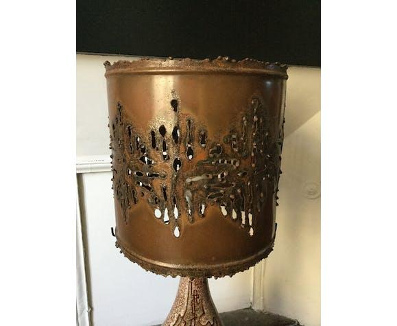Lampe Accolay ceramique brutaliste 1960