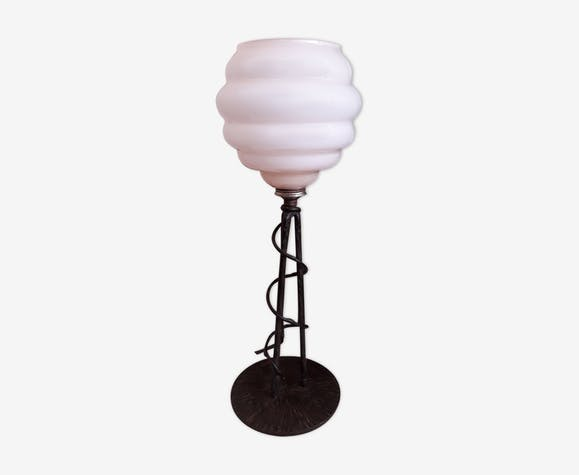Lampe art déco en fer forgé
