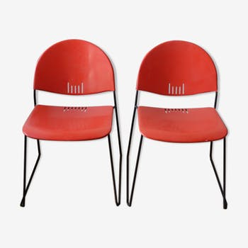 Pair of metal chairs 70 Talin Italy