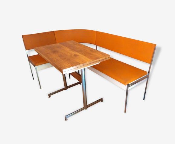 Banquette D Angle Et Table En Formica Vintage Leatherette