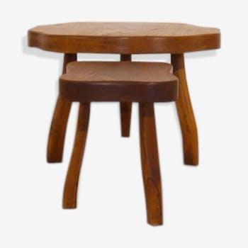 Low table set tripod brutalist design