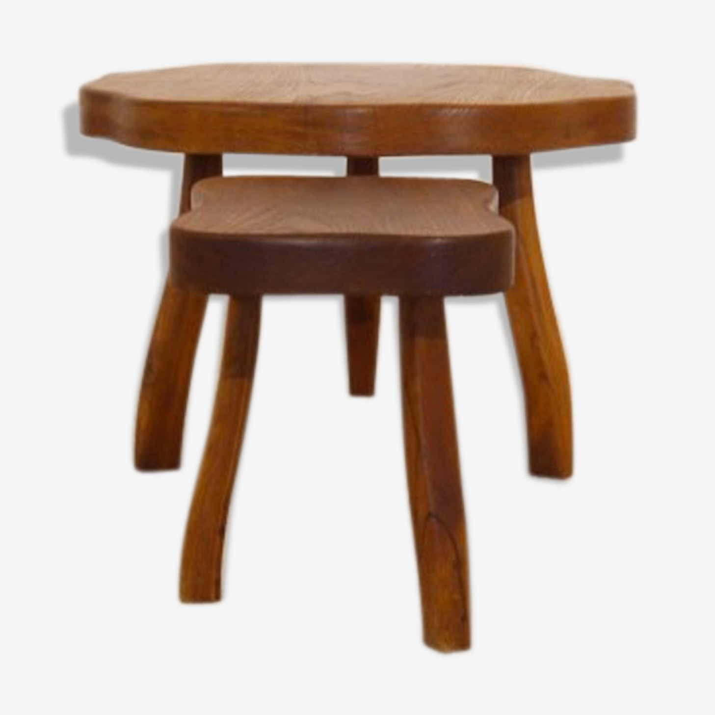 Set de tables basses tripode design brutalist