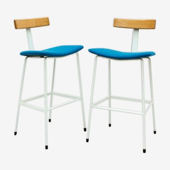 Pair of stools by Frank Guille for Kandya 1950