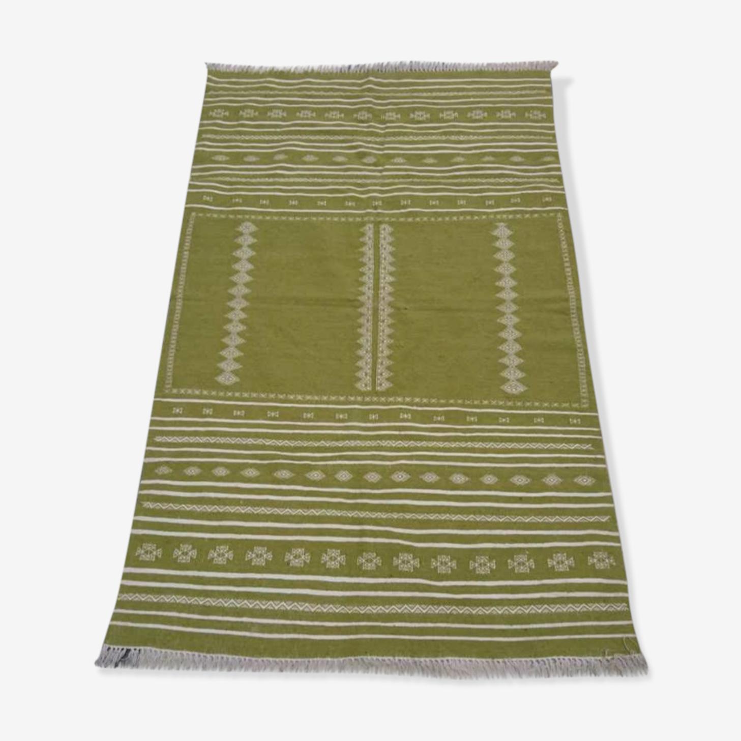 Tapis vert et blanc 220x140cm