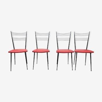 Suite de 4 chaises 1960