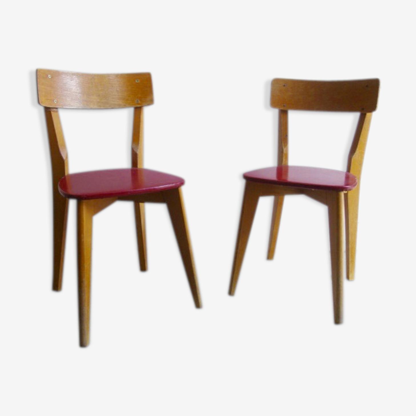 Paire de chaises enfants