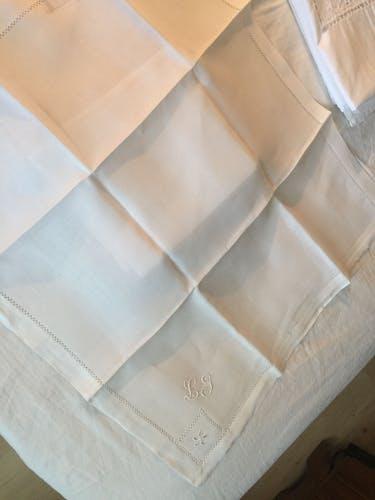 Lot of LT monogram linen towels
