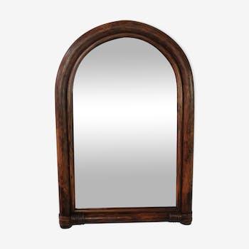 Miroir vintage rotin