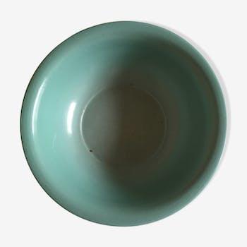 Dish plate glazed turquoise green farm, years 50