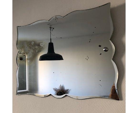 Miroir biseauté Art Déco 60x45cm vintage 1930