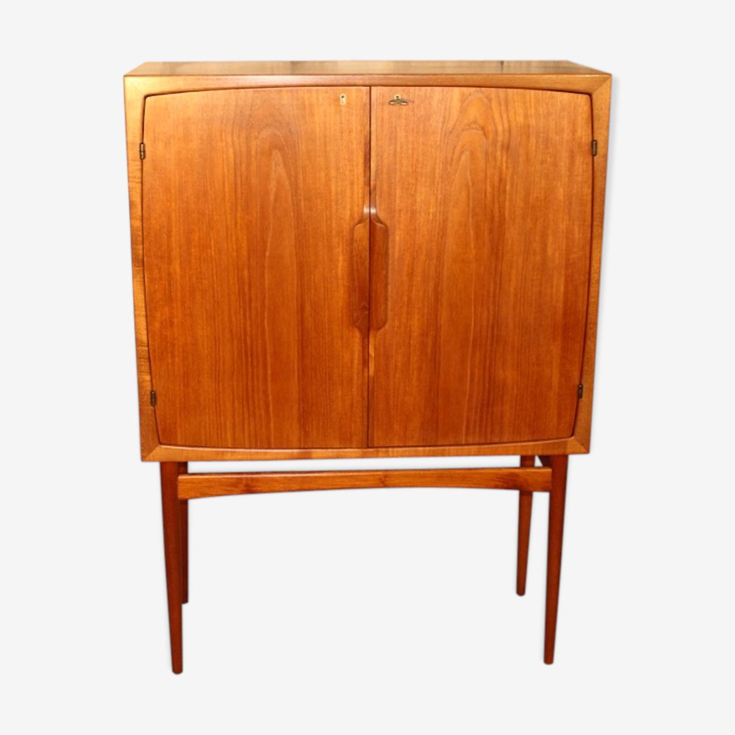 "Bar vintage scandinave en teck modèle ""Bacchus"" par Torbjorn Afdal pour Mellemstrands Mobelfabrik, années 1960"