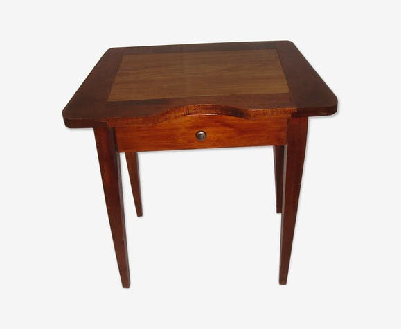 1960 oak wood side table