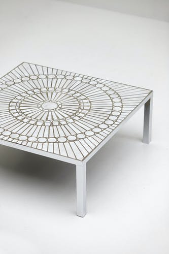 Table basse en céramique par Lutgart de Meyer