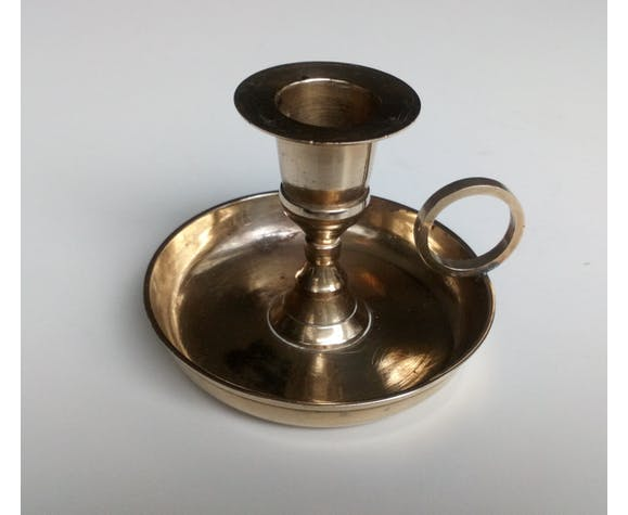 Brass taper candleholder