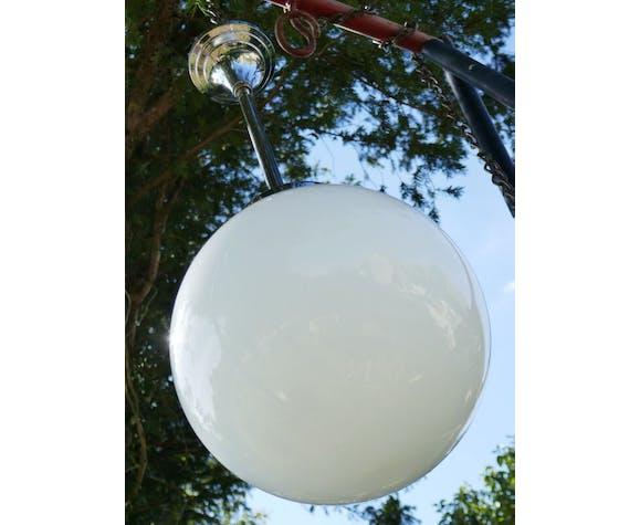 Suspension boule opaline vintage