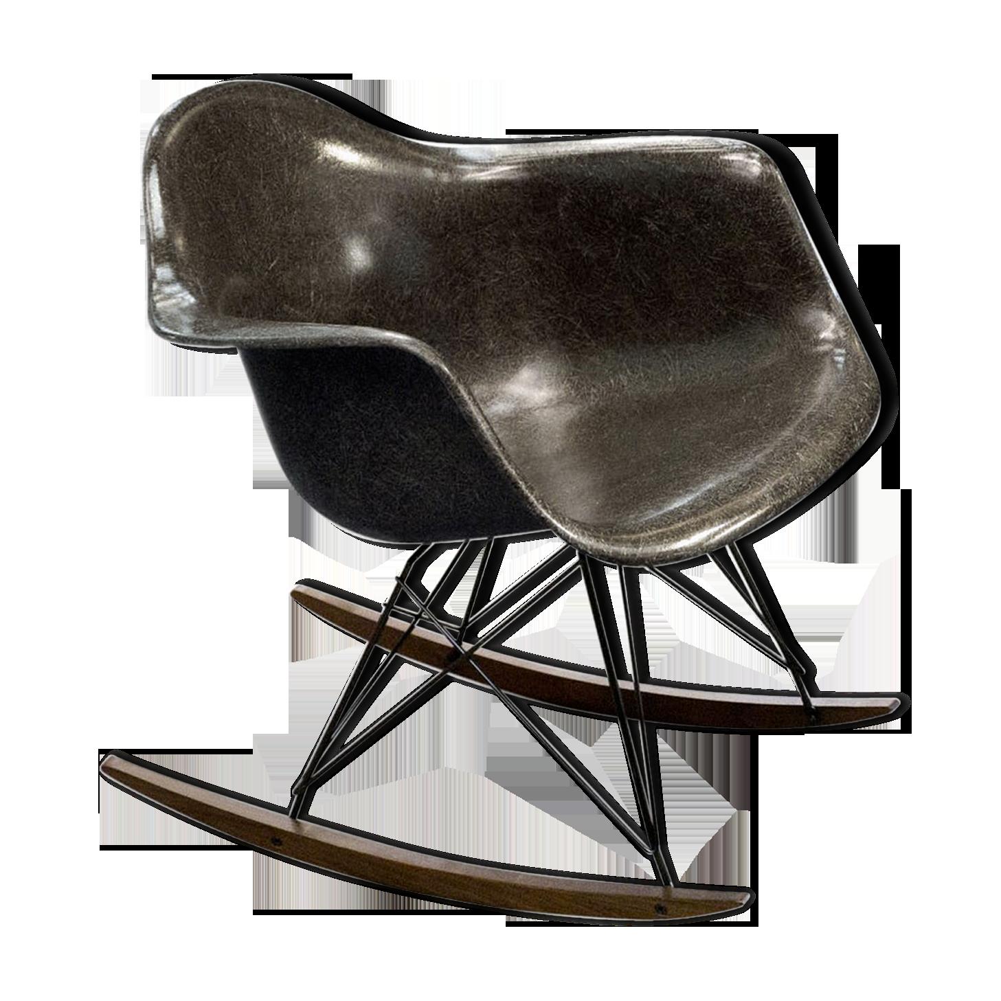 Eames Rocking Chair : Rocking chair herman miller eames fiberglass brown design