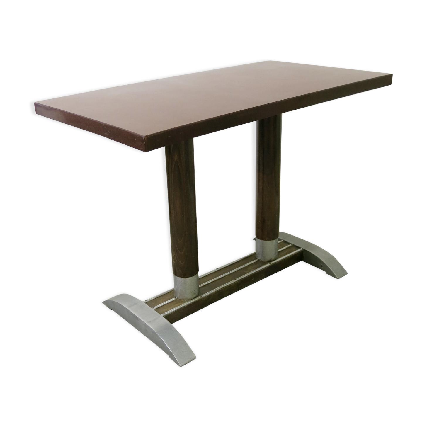 table bistrot de la marque fischel - bakélite - bordeaux - vintage