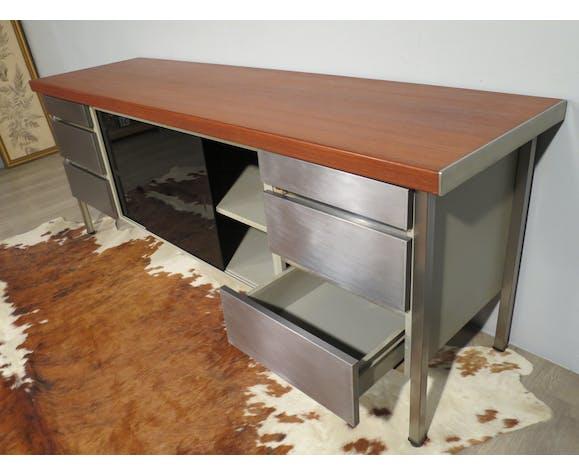 Vinco teak and metal sideboard