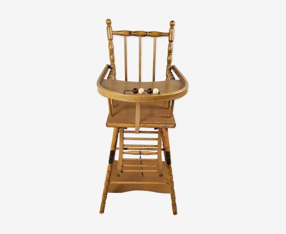 Chaise haute Combelle ancienne bois (Matériau) marron