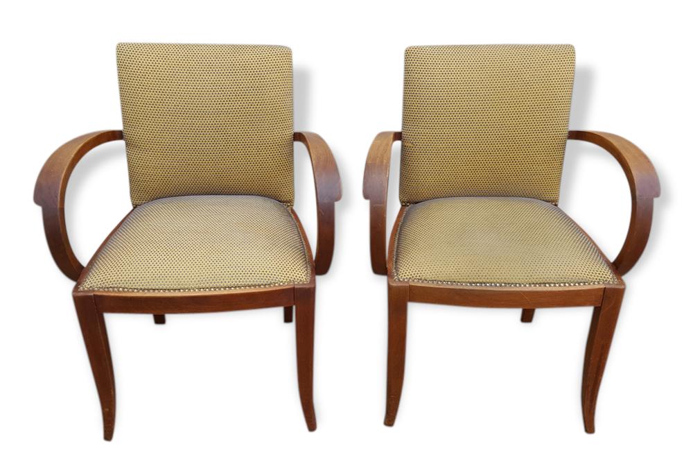 paire de fauteuils bridge d 233 co 233 es 30 tissu jaune d 233 co 107374