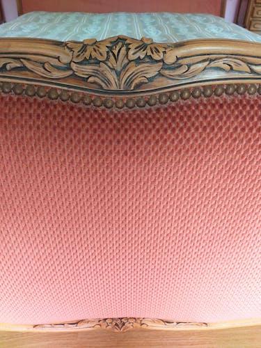 Lit corbeille en chêne massif style Louis XV