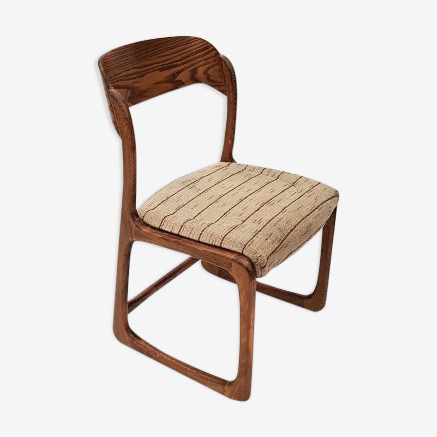Chaise allemande en chêne 1960s