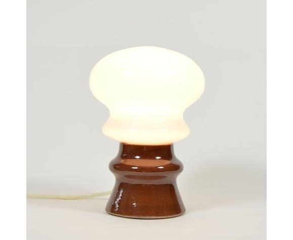 Lampe de table de champignon d'opaline, années 70