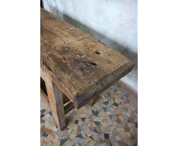 Etabli de menuisier en bois brut