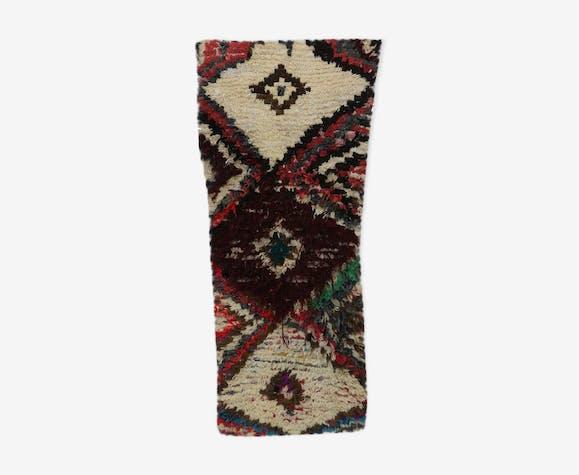 Tapis Marocain Azilal Vintage 85 X 170 Cm Lainecoton
