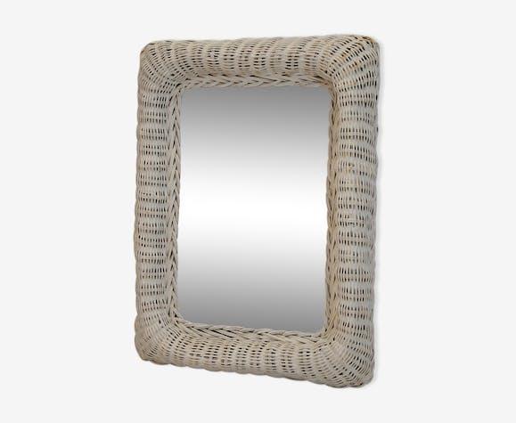 Miroir en rotin 31x41cm