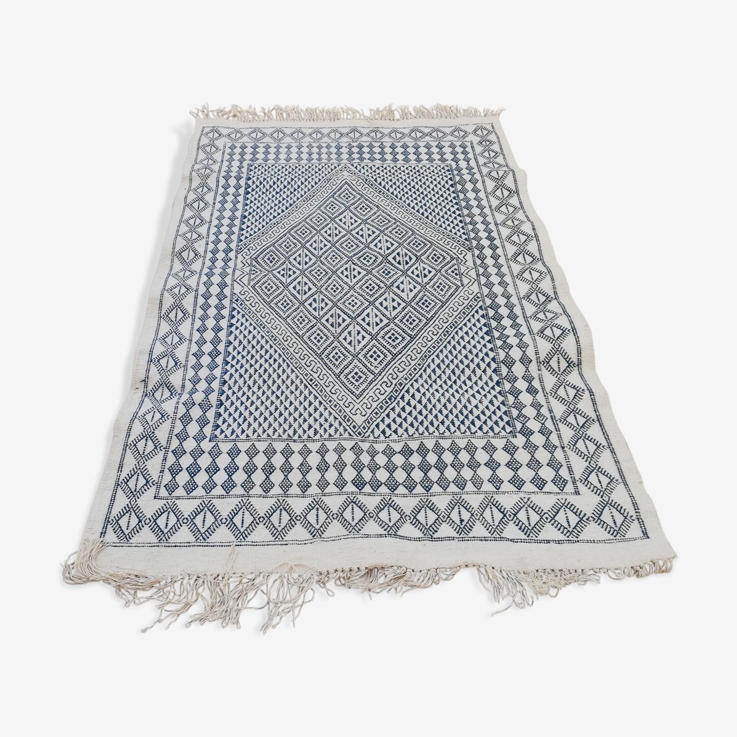 Tapis berbère marocain en laine fait main 127x200cm
