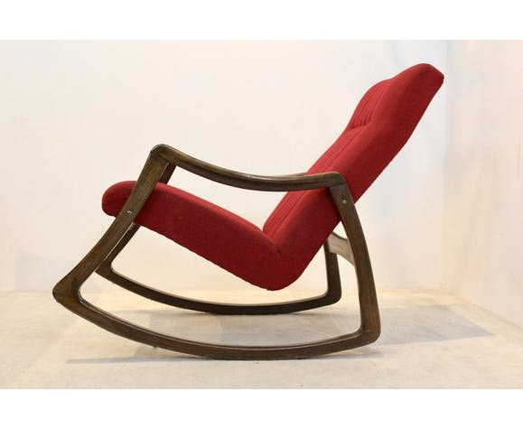 Rocking-chair en hêtre par Ton