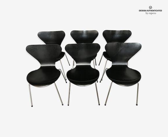 Set Of 6 Chairs Series 7 Fritz Hansen Arne Jacobsen 1991 Wood