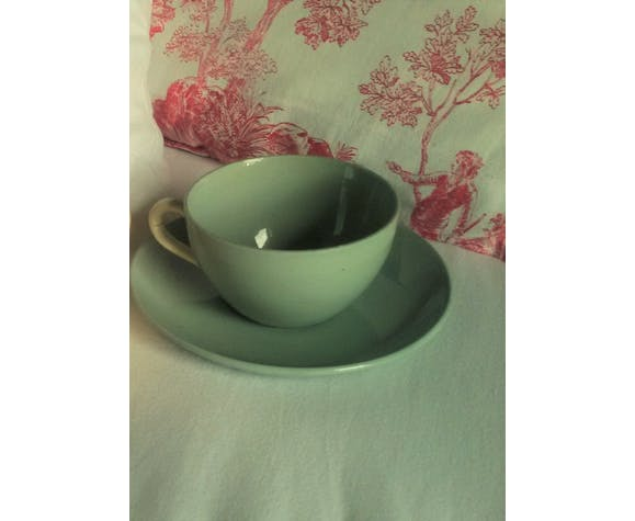 Lot 2 tasses soucoupes Sarreguemines 20/50