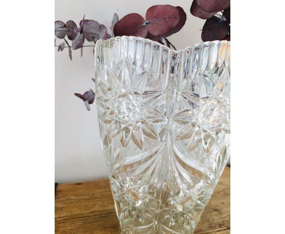 Old crystal vase