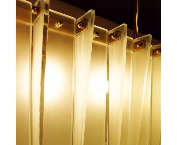 Long oval Italian ceiling lamp
