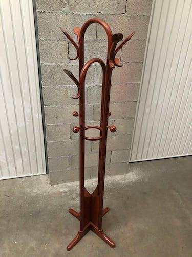 Porte manteaux design années 80 bois courbé